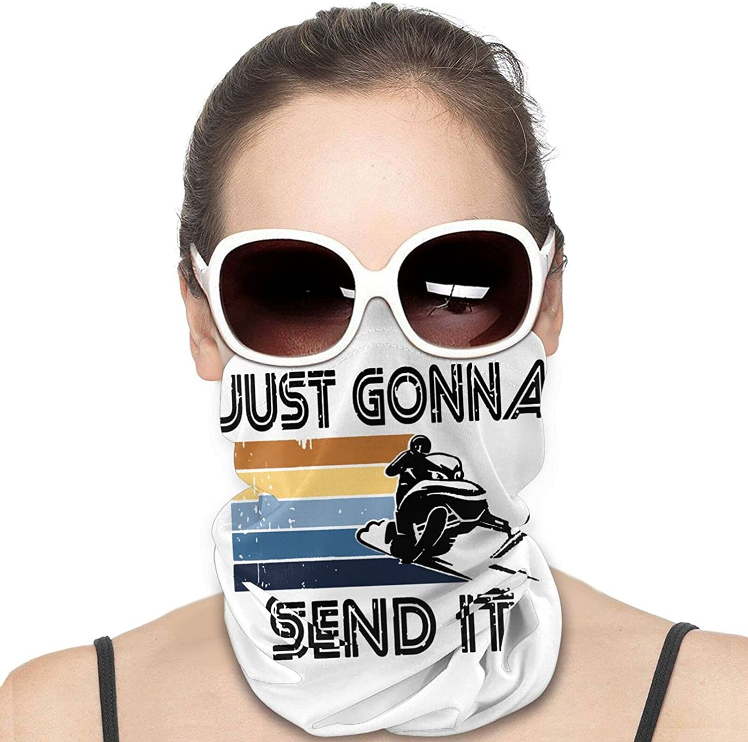 Just Gonna Send It Round Neck Gaiter Bandnas Face Cover Uv Protection Prevent bask in Ice Scarf Headbands Perfect for Motorcycle Cycling Running Festival Raves Outdoors