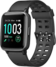 $44 » LETSCOM Fitness Tracker with Heart Rate Monitor, Activity Tracker, Step Counter, Sleep Monitor, Calorie Counter, 1.3'' Touch Screen Smart Watch, 5ATM Waterproof Pedometer Watch for Kids Women and Men