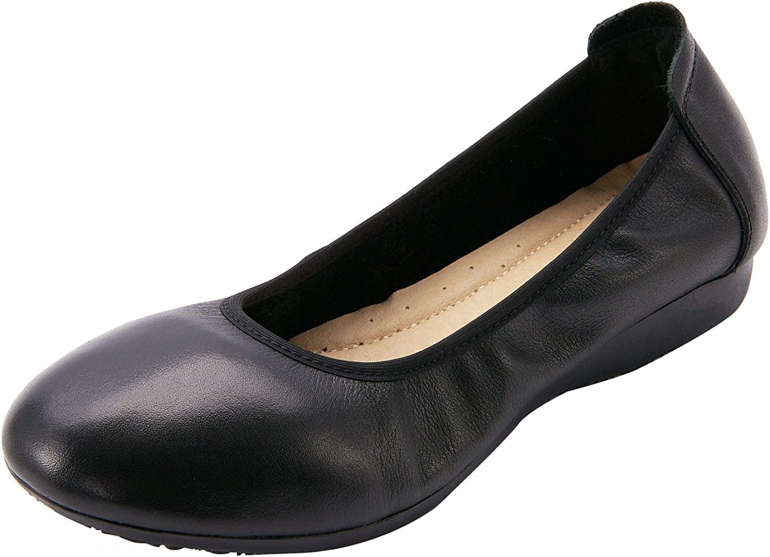 U-lite Women's Leather Low-Heel Low-top Slip-Ons Penny Loafers Wearable shoes