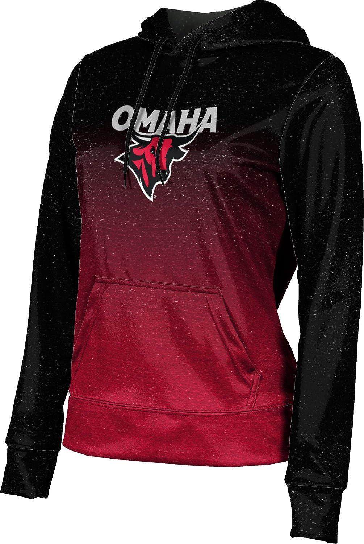 ProSphere University of Nebraska at Omaha Girls' Pullover Hoodie, School Spirit Sweatshirt (Ombre)