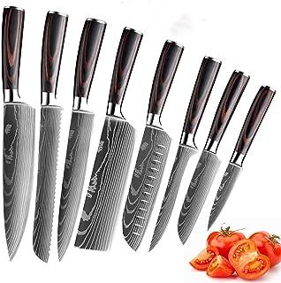 MDHAND Ensemble de Couteaux de Cuisine Professionnels, Ensemble de Couteaux de Chef allemands en Acier Inoxydable avec Cou...