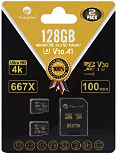 2 Pack Veho Muvi-X Quadcopter Drone Memory Card 2 x 32GB microSDHC Memory Card with SD Adapter