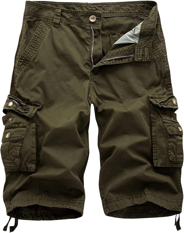 Men's Regular Fit Cargo Shorts Summer Fashion Large Size Loose Casual