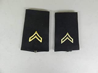 Embroidered Patch - Patches for Women Man - Military US Army Cloth Rank Corporal Rank E-4 Shoulder Boards MAL