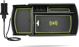 R RUIYA 2018 ホンダアコード カーアクセサリー センターコンソールオーガナイザー セカンダリートレイ ディバイダー アームレストストレージボックス Accord Armrest With wireless charger