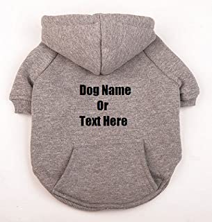 Add Your Custom Text or Logo to Your Dog Hoodie Sweatshirt (pet Clothing)