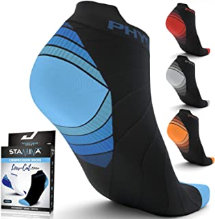 Compression Running Socks for Men & Women - Best Low Cut No Show Athletic Socks for
