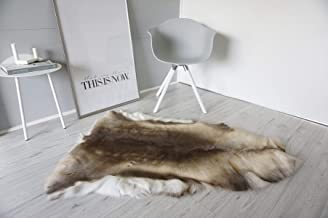 MILABERT Genuine Super Soft - Extra Large Scandinavian Reindeer Skin - Rug | Hide | Pelt - RE 376