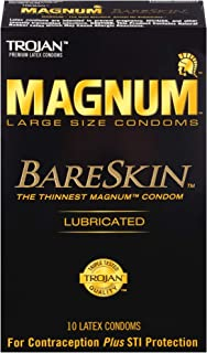 Trojan Magnum Bareskin Lubricated Large Size Condoms