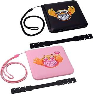REELAXXX - Boîte de Maskbox Enfant X2 Rose et Noir - Bijoux Perles - Boîte de Rangement Masques - Cartes et Accessoires - ...