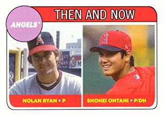 2018 Topps Throwback Thursday TBT #67 Nolan Ryan/Shohei Ohtani Baseball Card - 1969 Topps Rookie Design - Only 1,894 made!