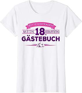 Damen 18. Geburtstag Mädchen Geschenk Shirt zur 18 Jahre Party