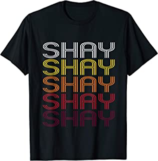 Shay Retro Wordmark Pattern - Vintage Style T-shirt