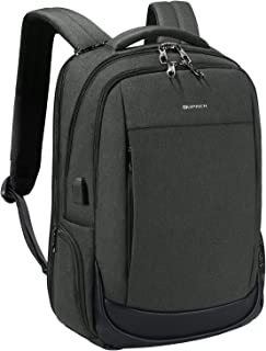 KOPACK Business Laptop Backpack Side Load Computer Travel Backpack Usb Port Water Resistant 15.6 Inch Black