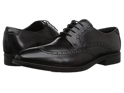ECCO Melbourne Wingtip Tie (Black) Men