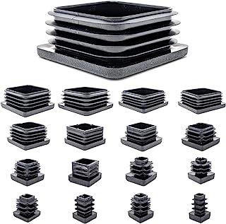 DealMux pl/ástico Rectangular Tabla Pata de la Silla Pies Tubo Tubo Tapa del Extremo de inserci/ón de 60 mm x 40 mm 30pcs Negro