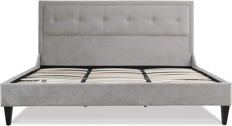 Jennifer Taylor Home Lexy Finally resale start Modern Silver Grey Factory outlet King Platform Bed