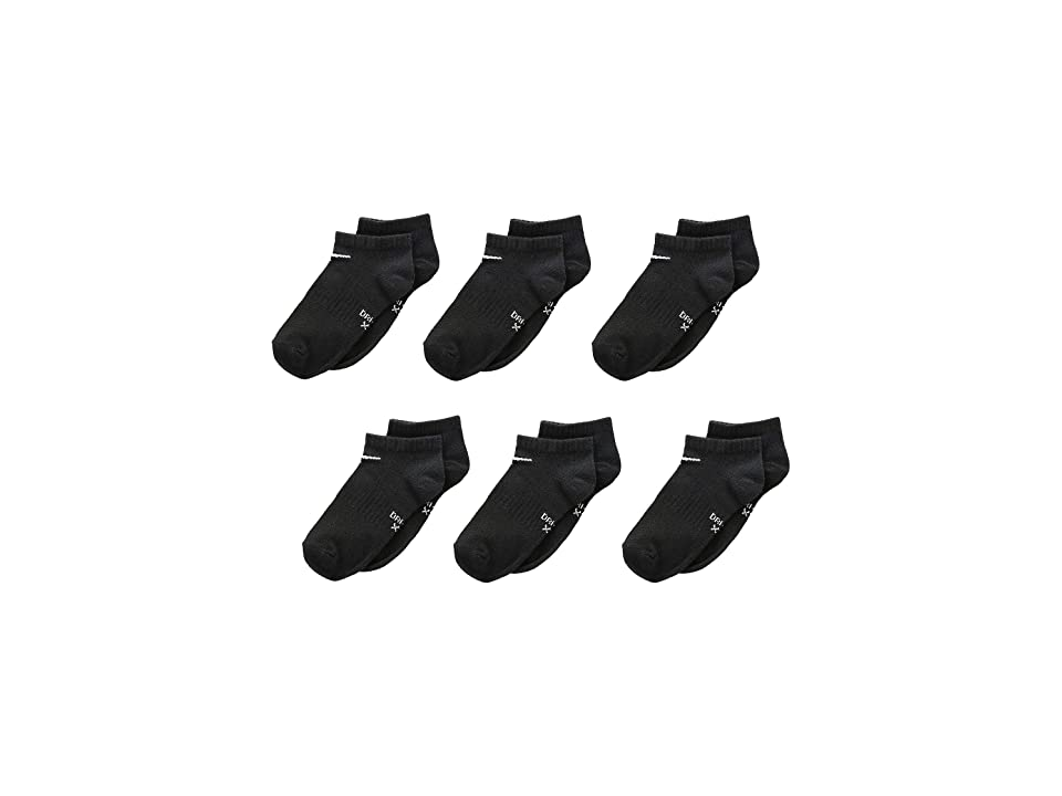 Nike Kids Lightweight Dri-Fit No Show (Toddler/Little Kid) (Black) Boys Shoes