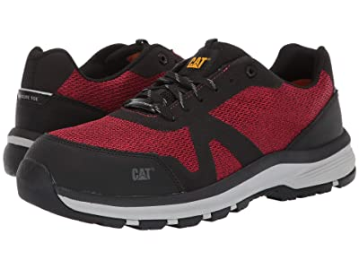 Caterpillar Passage Composite Toe (Black/Regal Red) Men