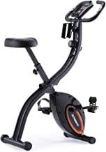 ECHANFIT Indoor Cycling Bike Folding Magnetic Exercise Upright Bike Stationary with 16 Levels Resistance Arm Training Band...