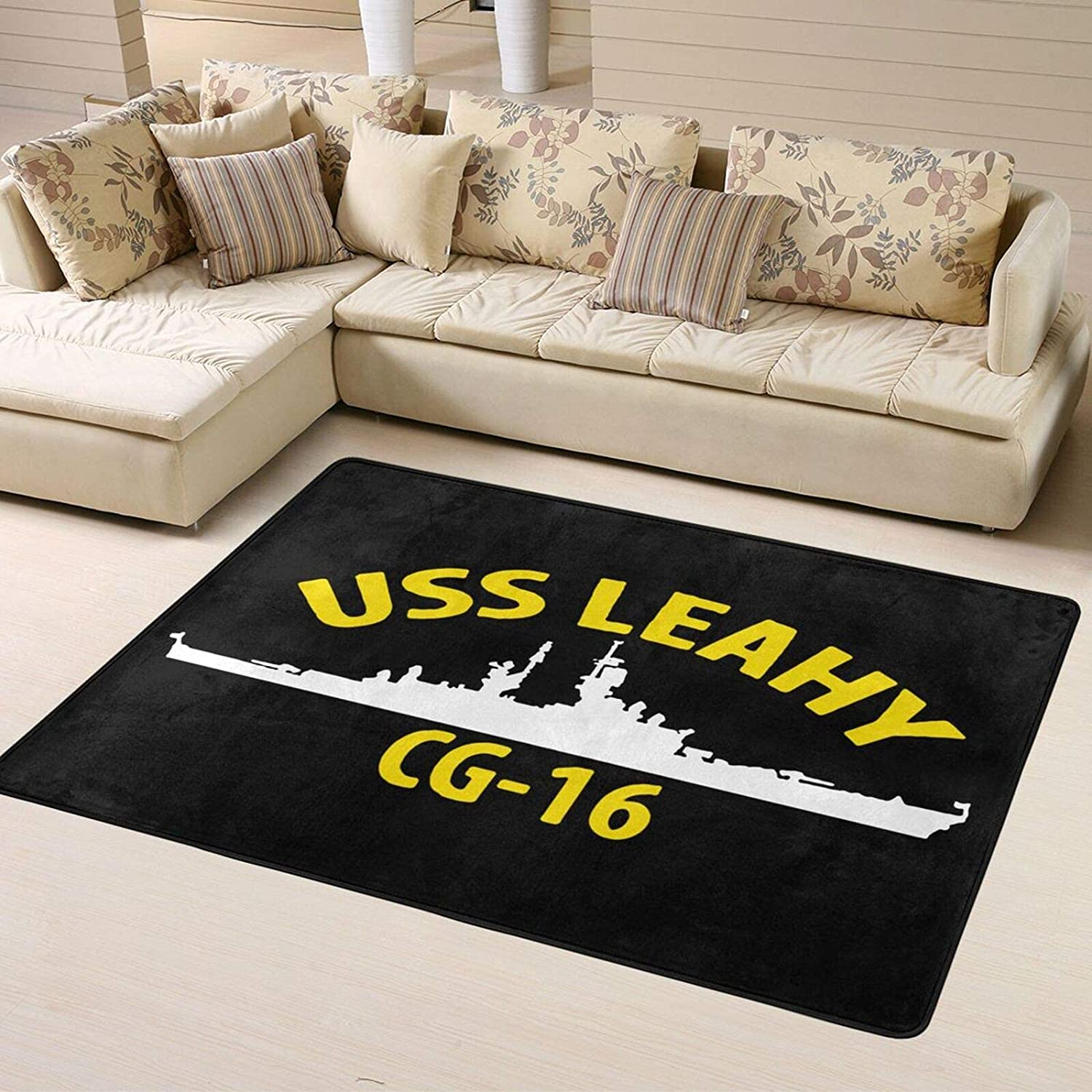 USS Rapid rise Leahy Cg-16 Super Soft In Home Over item handling Personalized Decoration Rugs