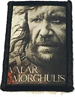 """Game of Thrones The Hound Morale Patch Military Tactical 2x3"""" Hook Made in The USA"""