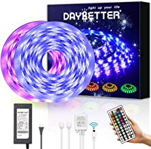 DAYBETTER Led Strip Lights 32.8ft Waterproof Flexible Tape Lights Color Changing 5050 RGB..