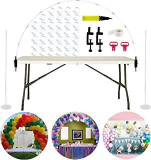 Table Balloon Arch Kit, Balloon Column Stand Kit Base and Pole for Birthday, Wedding Event, Christmas, Graduation Party by QIFU (Balloon Arch Kit)