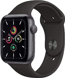 AppleWatch SE (GPS, 44 mm) Caja de aluminio en gris espacial - Correa deportiva negra