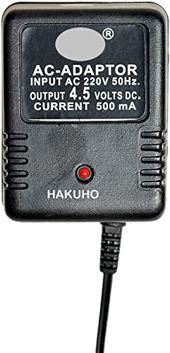 Hakuho 4 5 Volt 500mA Power Adapter with 4 Multi Pin and Polarity Change Option for Radios Torches Toys Trimmer Allpurpose Use for Electronics Items