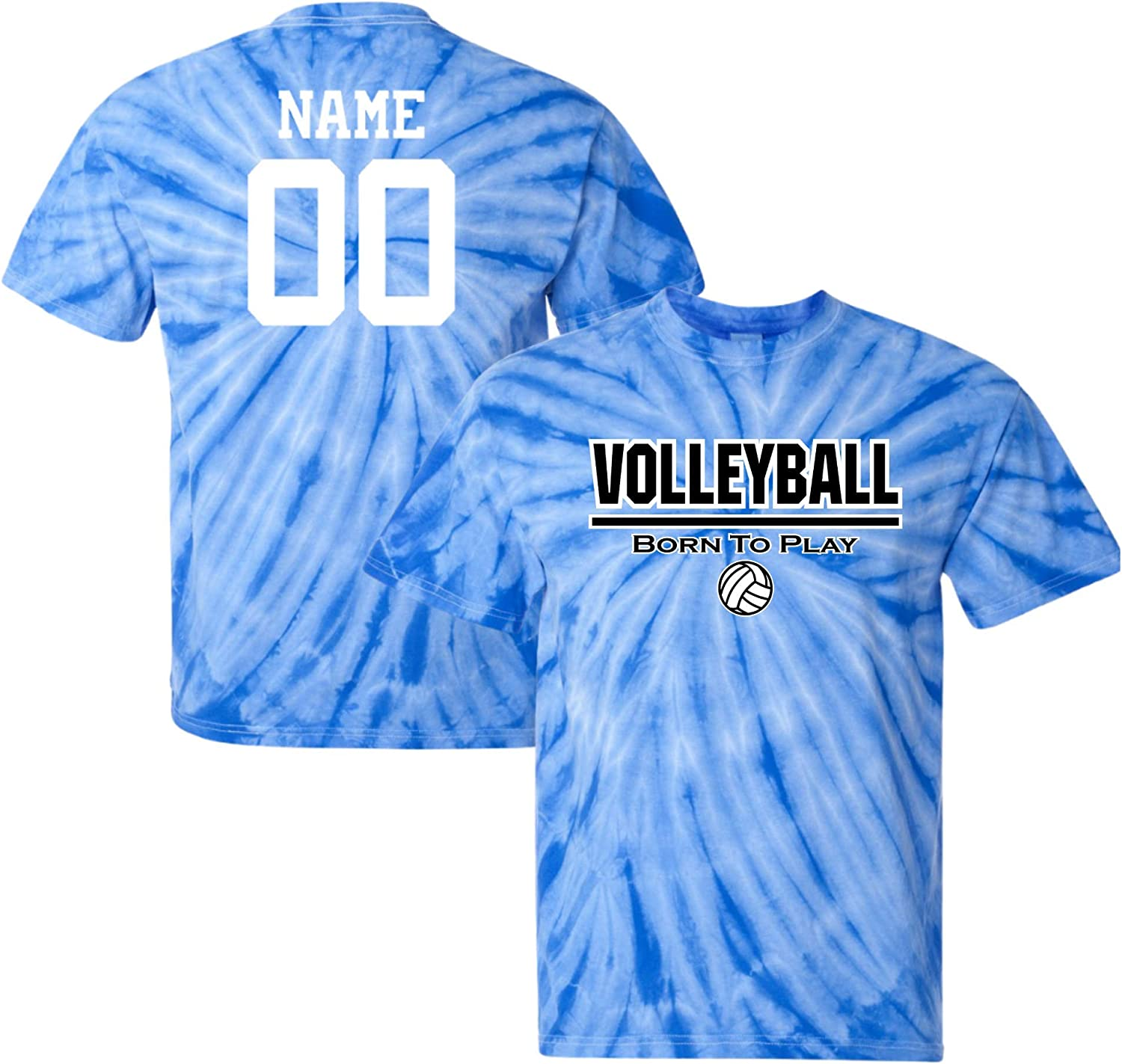 JANT girl Custom Our shop most popular Max 75% OFF Volleyball Tie Dye Play Logo to T-Shirt Born