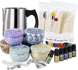Complete Candle Making Kit Supplies, Soy Wax, Fragrance Oil, Cotton Wicks, Candle Pigment, Candles Art and Craft Supplies