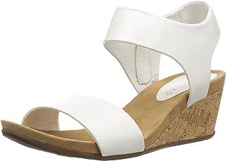 b15af6fe695c Skechers Women s Cool Step-Ankle Strap Slide Fashion Casual Wedge Heeled  Sandal