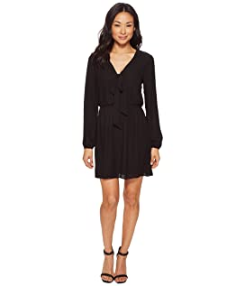 Emily Long Sleeve Tie-Front Dress
