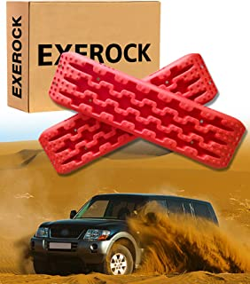 Exerock Red 2pcs New Recovery Traction Mats Tool Tracks Sand Mud Snow Track Tire Ladder