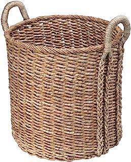 KOUBOO Large Round Seagrass Basket