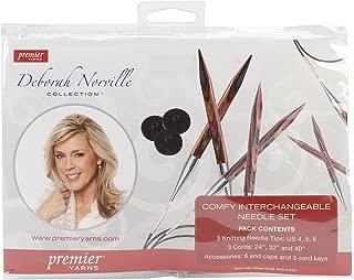 Premier Yarns Deborah Norville Interchangeable Kneedle Set, 24-Inch