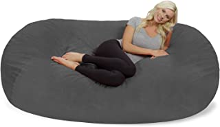 Chill Sack Bean Bag Chair: Huge 7.5' Memory Foam Furniture Bag and Large Lounger - Big Sofa with Soft Micro Fiber Cover - Grey Pebble
