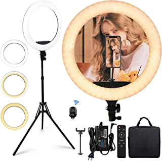 """18"""" Selfie Ring Light with Extendable Tripod Stand & Flexible Phone Holder for Live Stream/Makeup/Photography/YouTube Vide..."""