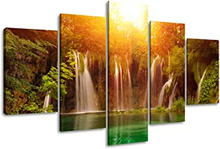 Visario Leinwandbilder 5503 Bild auf Leinwand Wasserfall, 16