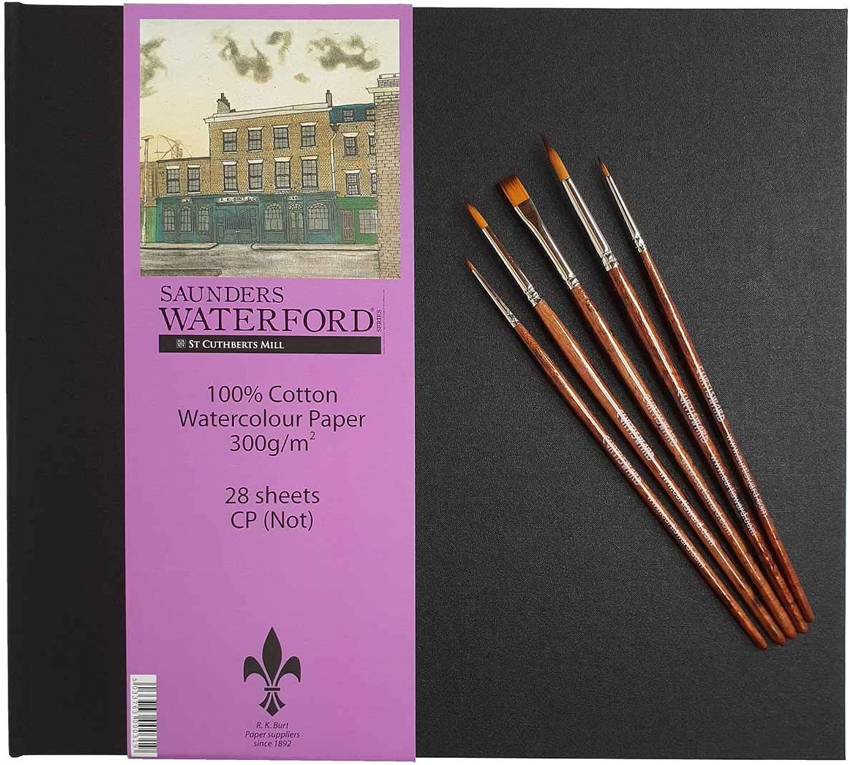 Saunders Waterford Artists Watercolour Paper Paper Paper Book. (Cold Pressed Surface) & Curtisward Panache Brush Set B07KCH7LYL    Treten Sie ein in die Welt der Spielzeuge und finden Sie eine Quelle des Glücks  a61fbc