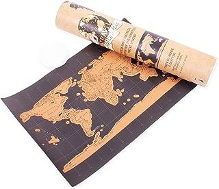 ukYukiko Gold Scratch Map Scratch Map Gr/ö/ße Schwarz Gold Schwarz Luxus Edition Weltkarte