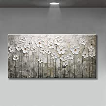 Handgeschilderd Olieverfschilderij - Abstract Modern 100% Handgeschilderde Olieverfschilderijen Mooie Bloemen Canvas Wall ...