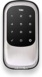 Yale Security YRD120-NR-619 YRD120NR619 Key Free Touchscreen Deadbolt, Satin Nickel