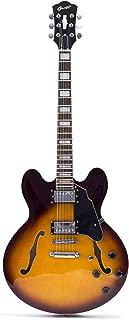 Glen Burton USA GE355-RDSMemphis Semi Hollowbody Electric Guitar, Semi-Hollow Body, Redburst