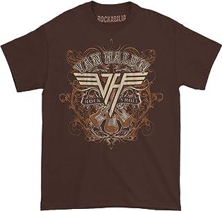 Van Halen Men's Rock N Roll T-Shirt Dark Chocolate