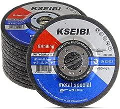 KSEIBI 641006 4-1/2-Inch by 1/4-Inch Metal Stainless Steel Inox Grinding Disc Depressed Center Grind Wheel, 7/8-Inch Arbor, 10-Pack