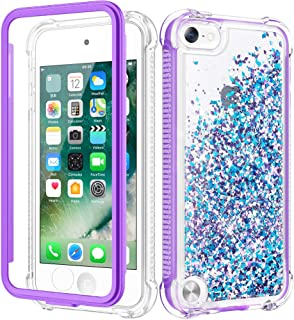 Caka iPod Touch Case 5th 6th 7th Generation, iPod Touch 5 6 7 Glitter Case for Girls Full Body Case with Built in Screen P...