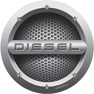 Autographix Diesel Cars Circle Fuel Badge Sticker
