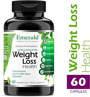Weight Loss Health - with Green Coffee Bean Extract, Meratrim® & Konjac Root - Helps Reduce Body Fat, Increase Metabolism, Control Appetite - Emerald Laboratories - 60 Vegetable Capsules